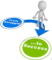 struggle to success