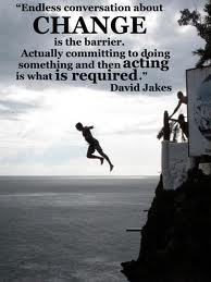 Talking about change is the barrier